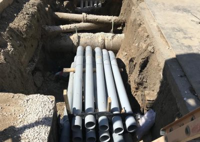 Complicated new duct bank work in Mobile for Alabama Power