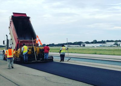 Final wearing surface going down at Birmingham Airport