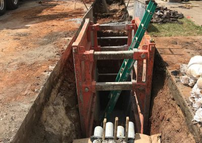 Installing new duct line for Alabama Power
